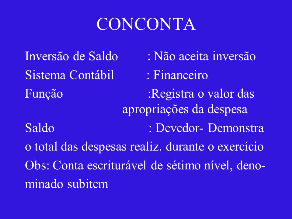 CONCONTA CONSULTA PLANO DE CONTAS - Conta Contábil : 3.3.4.9.0.30.16 - Título : Material de Expediente - Encerramento : Conta de encerramento na primeira etapa.
