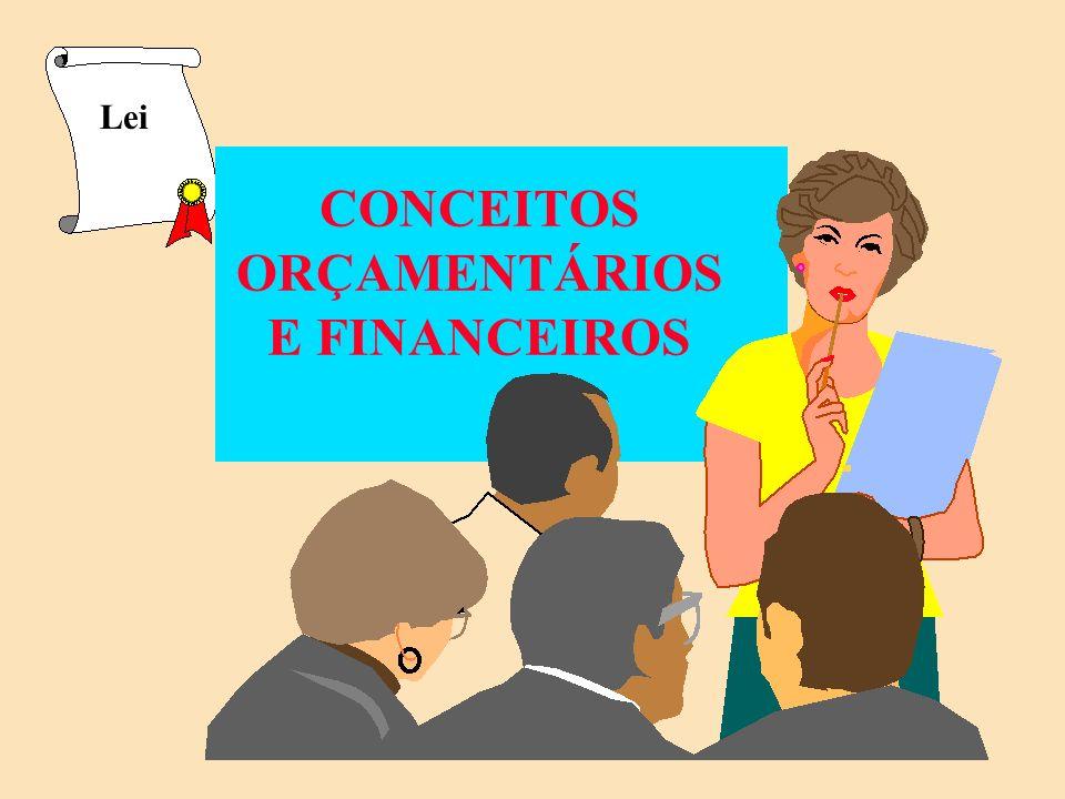 CONCEITOS ORÇAMENTÁRIOS E FINANCEIROS Lei