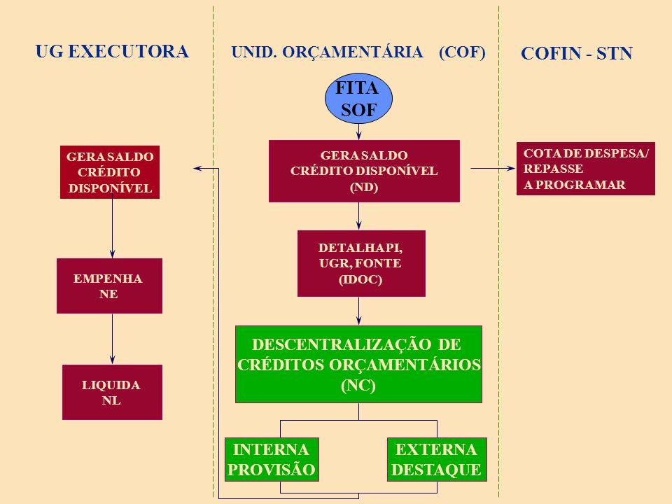 DESCENTRALIZAÇÃO ORÇAMENTÁRIA PROVISÃO: DESCENTRALIZAÇÃO INTERNA.