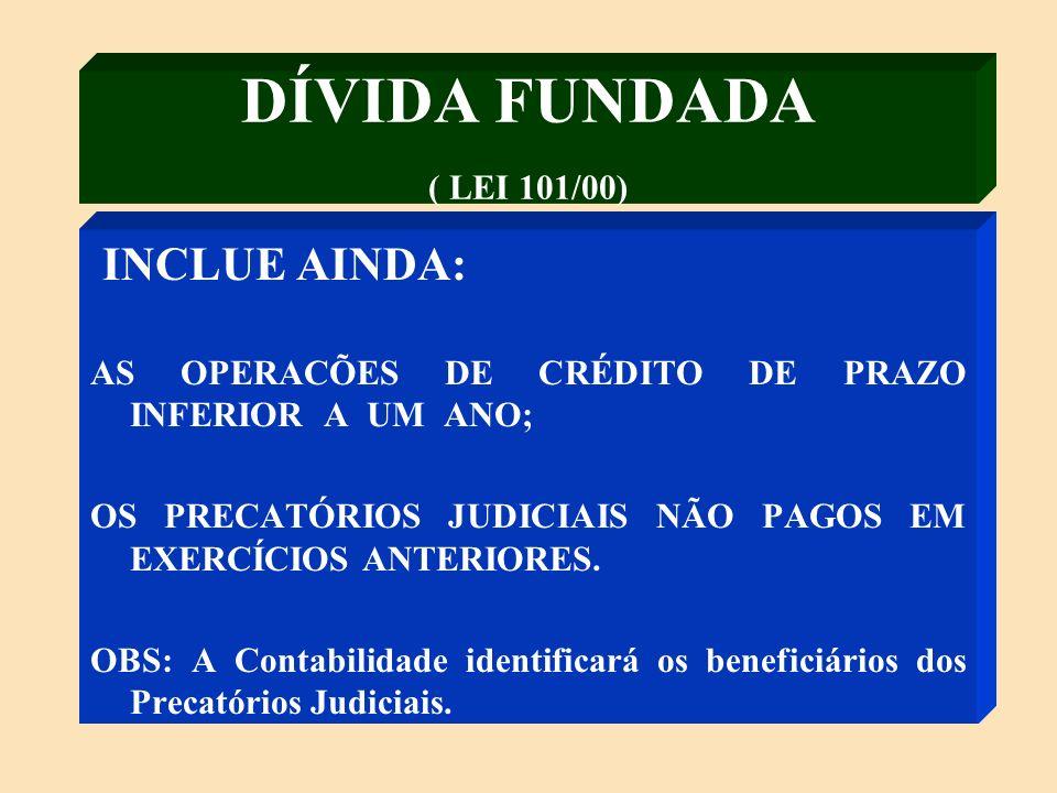DÍVIDA FUNDADA (ART.