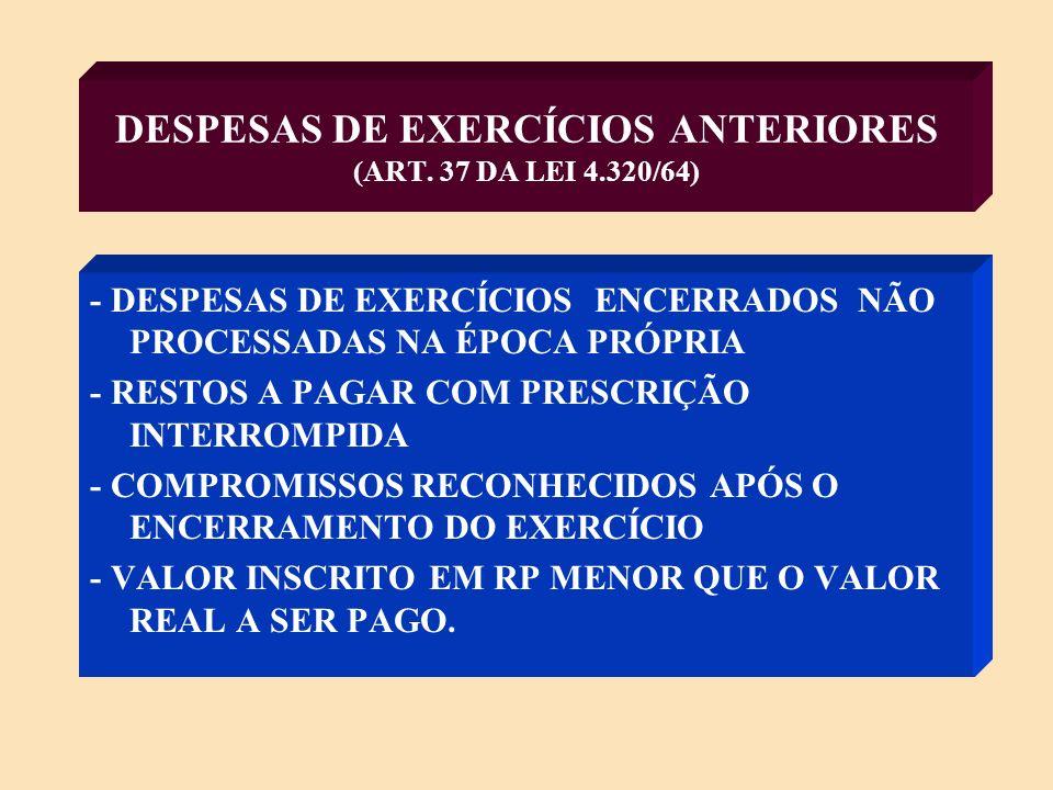 DEPÓSITOS (§ ÚNICO ART.3º E § 3º ART.