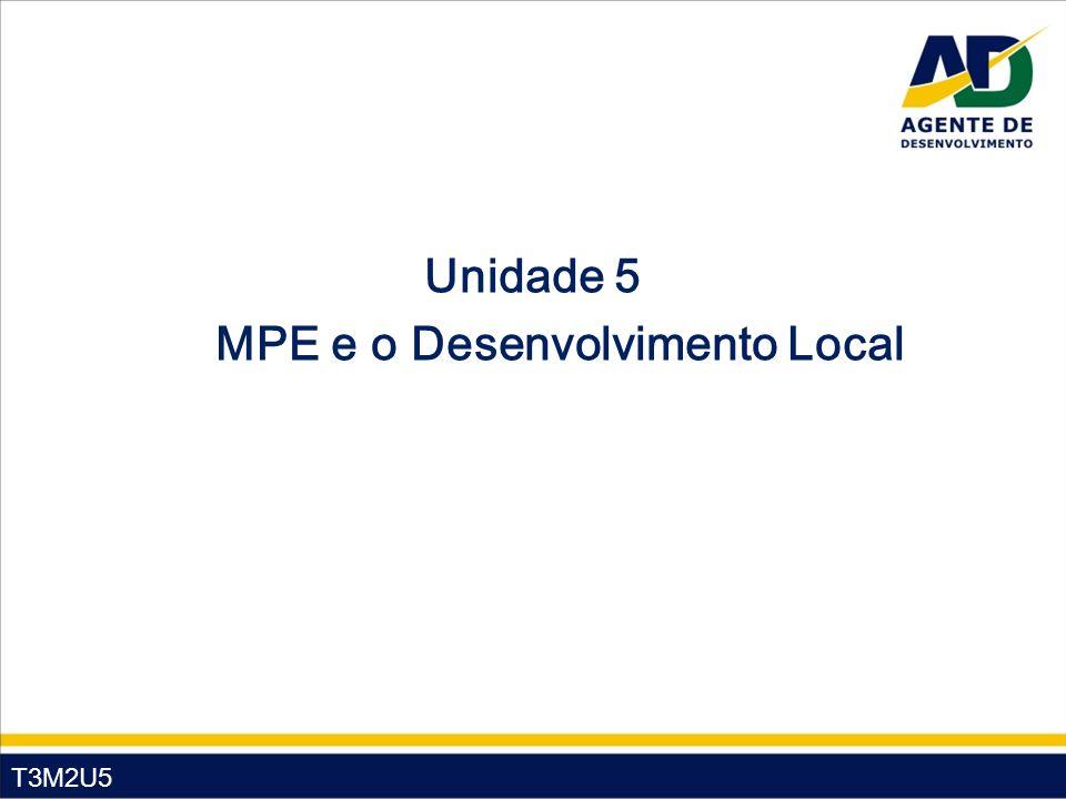 T3M2U5 Unidade 5 MPE e o Desenvolvimento Local