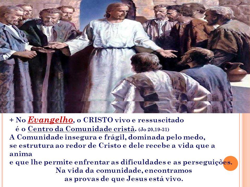 A 2ª Leitura apresenta Jesus caminhando com a sua Igreja. É nele que a COMUNIDADE encontra a força para caminhar e para vencer as forças que se opõem