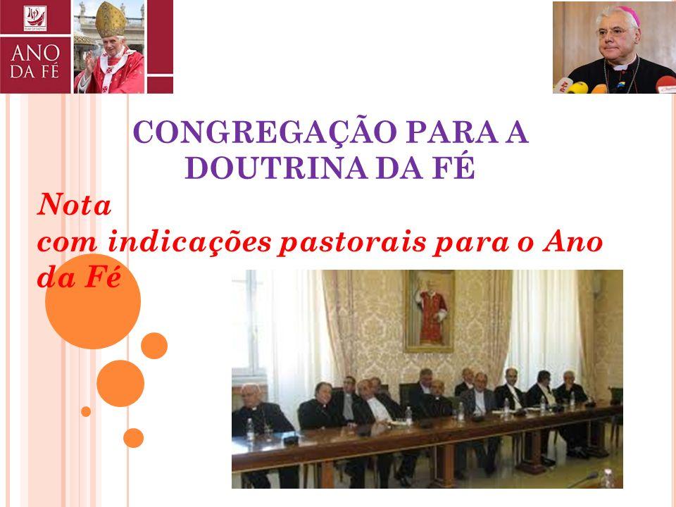 Dado em Roma, junto de São Pedro, no dia 11 de Outubro do ano 2011, sétimo de Pontificado. BENEDICTUS PP. XVI