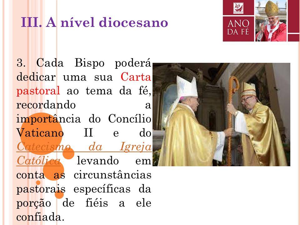 2. Será oportuno organizar em cada Diocese do mundo uma jornada sobre o Catecismo da Igreja Católica, convidando especialmente os sacerdotes, as pesso