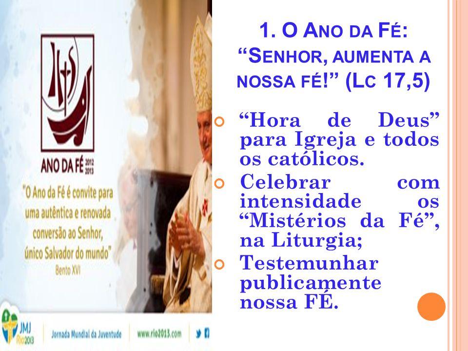 V IVÊNCIA DO A NO DA F É Encontro de Formação da Pastoral Catequética da Arquidiocese de Manaus. Abril -2013