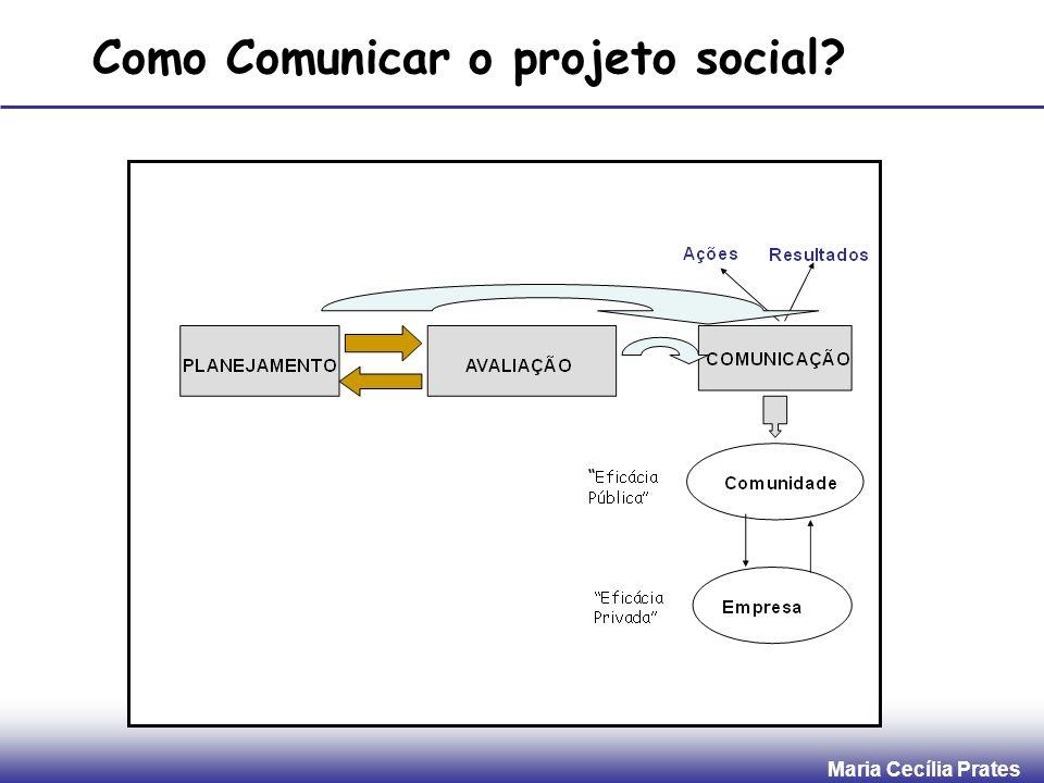 Maria Cecília Prates Como Comunicar o projeto social?