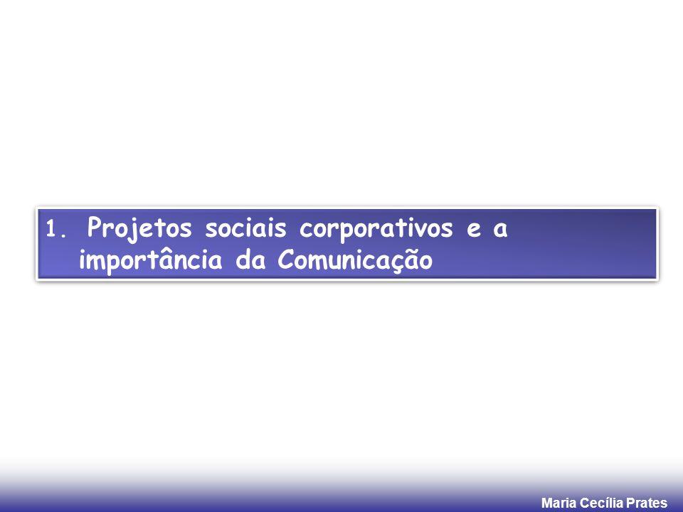 Maria Cecília Prates 3. Reflexão: Projetos ambientais e Comunicação