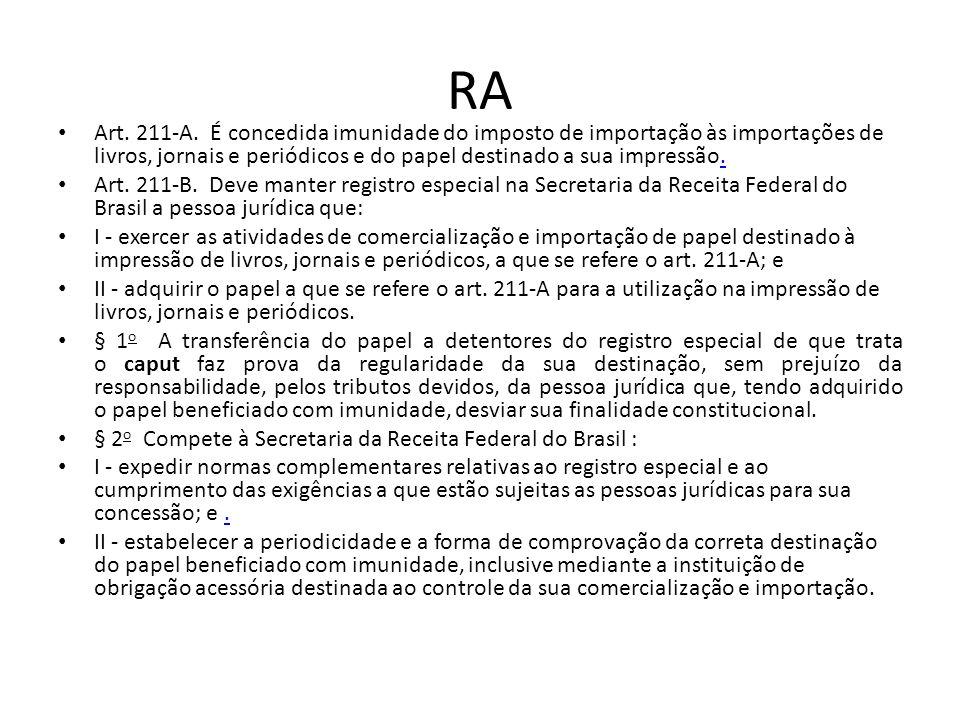 RA Art.211-A.