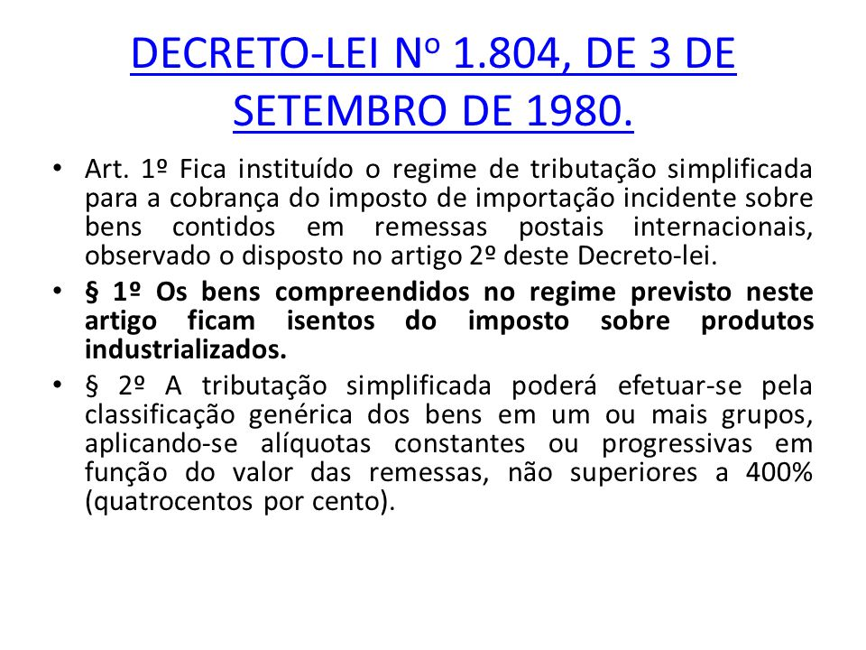 DAS ISENÇÕES Art.305.