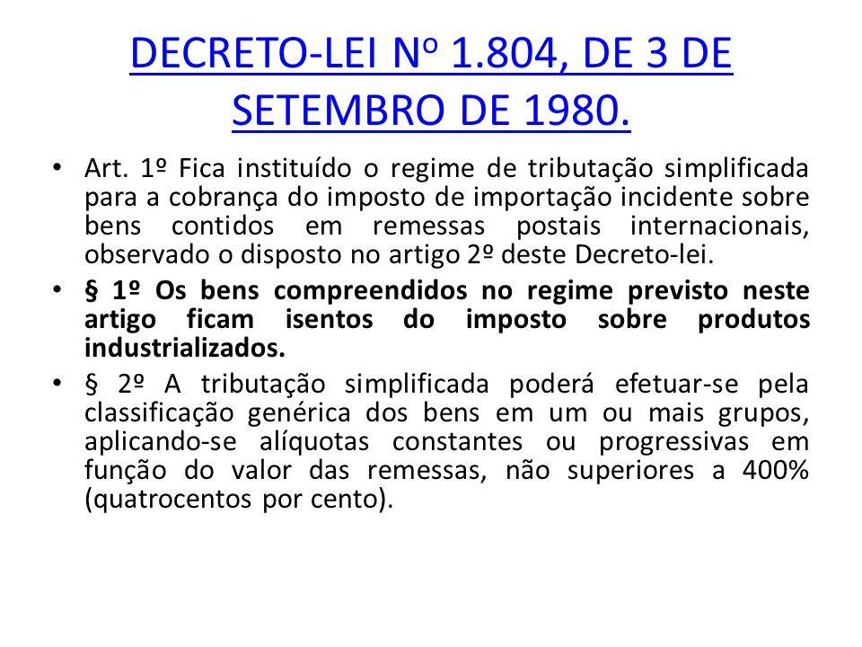 DECRETO-LEI N o 1.804, DE 3 DE SETEMBRO DE 1980.Art.