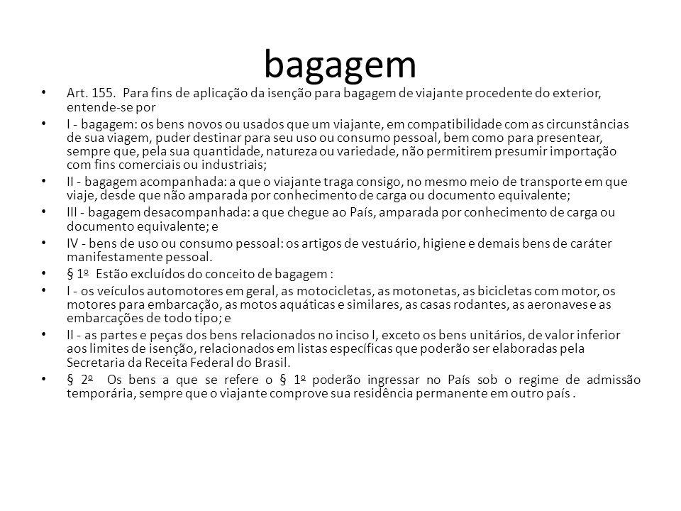 bagagem Art.155.