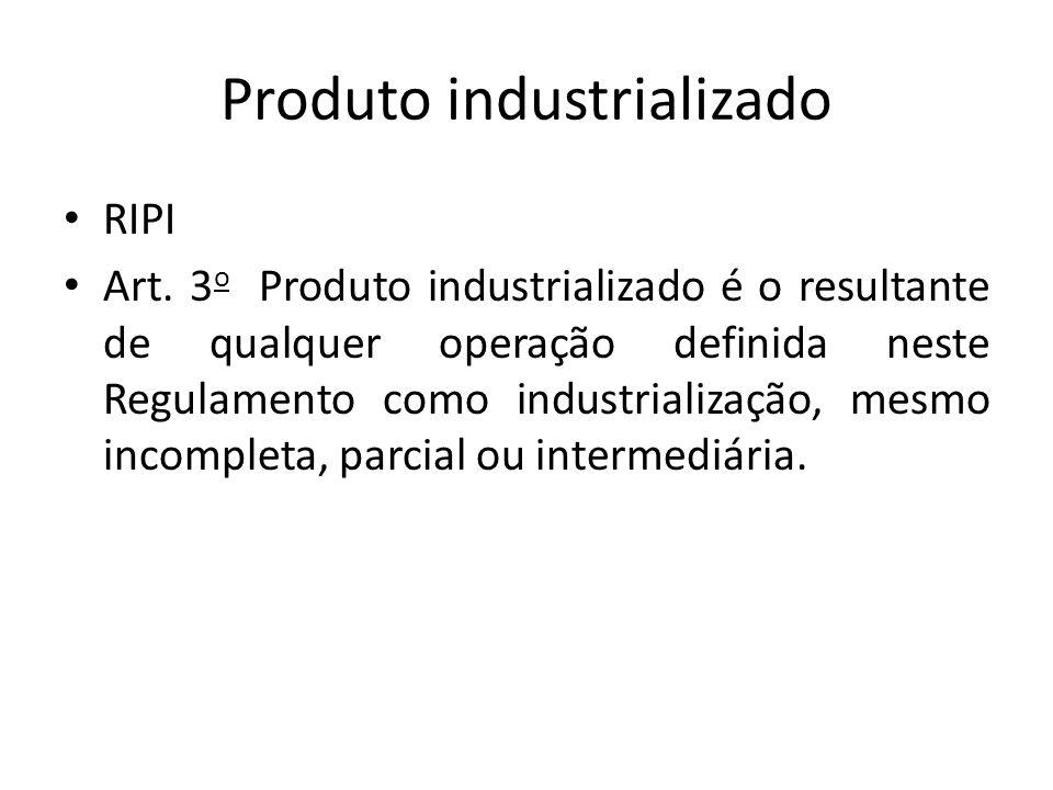 Produto industrializado RIPI Art.