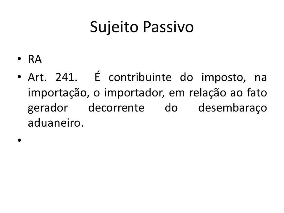 Sujeito Passivo RA Art.241.