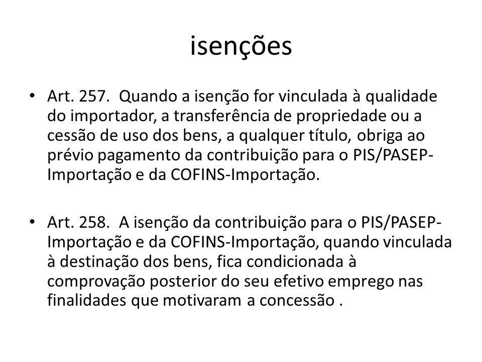 isenções Art.257.