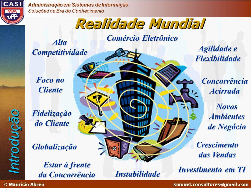 sumnet@microlink.com.br © Mauricio Abreusumnet.consultores@gmail.com Administração em Sistemas de Informação Soluções na Era do Conhecimento Realidade