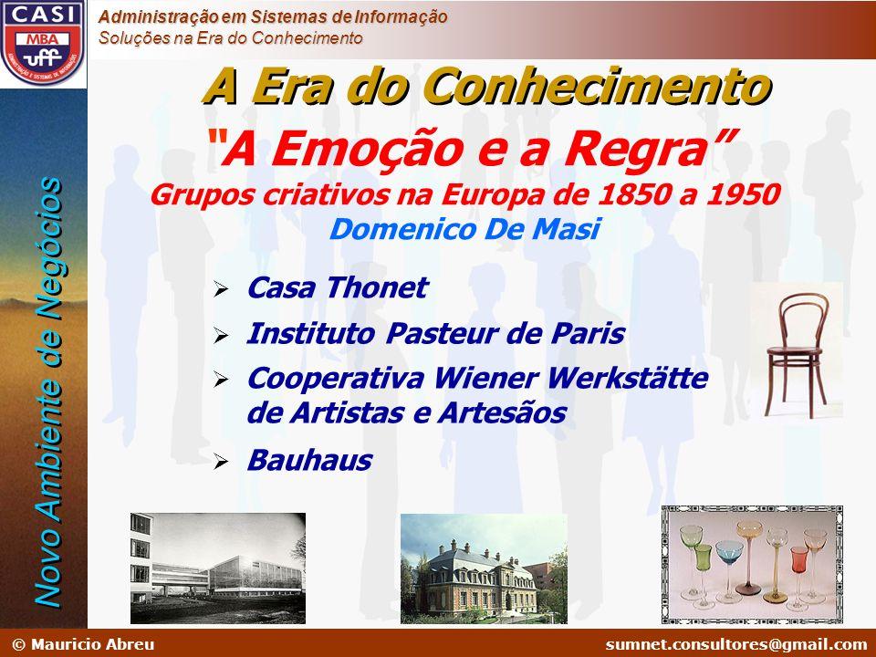 sumnet@microlink.com.br © Mauricio Abreusumnet.consultores@gmail.com Administração em Sistemas de Informação Soluções na Era do Conhecimento A Emoção