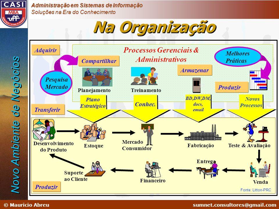sumnet@microlink.com.br © Mauricio Abreusumnet.consultores@gmail.com Administração em Sistemas de Informação Soluções na Era do Conhecimento Planejame