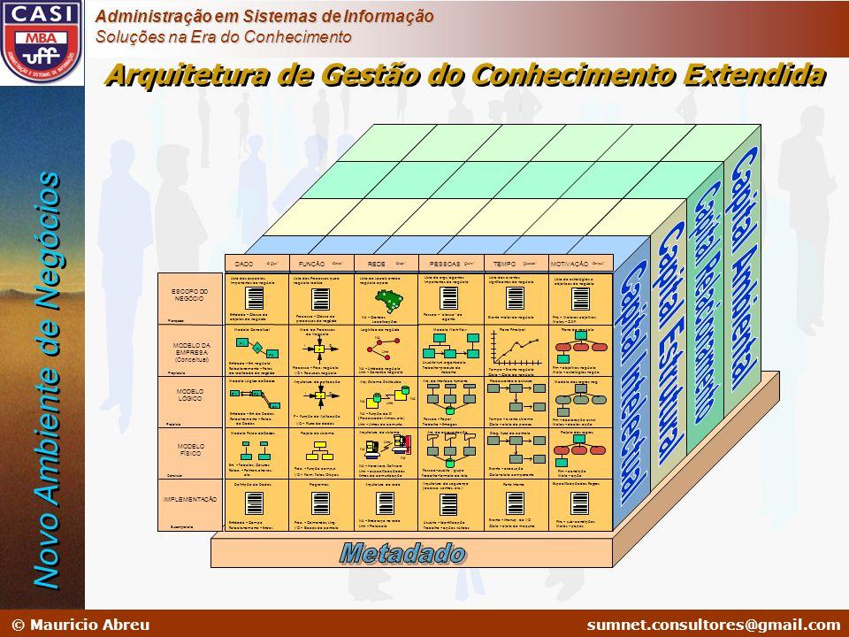 sumnet@microlink.com.br © Mauricio Abreusumnet.consultores@gmail.com Administração em Sistemas de Informação Soluções na Era do Conhecimento ESCOPO DO