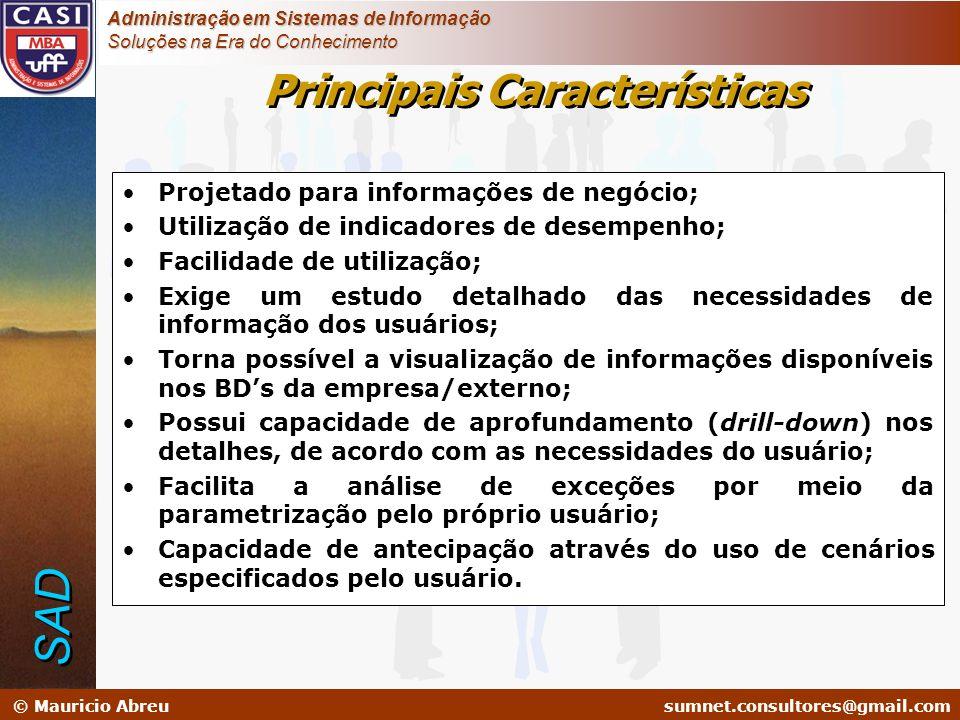 sumnet@microlink.com.br © Mauricio Abreusumnet.consultores@gmail.com Administração em Sistemas de Informação Soluções na Era do Conhecimento Projetado