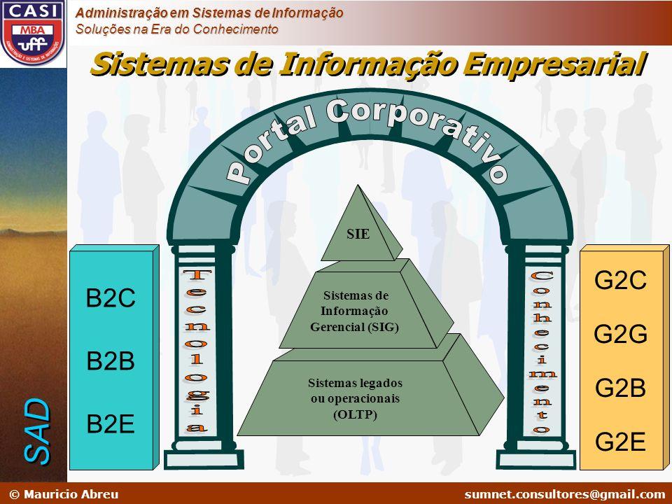 sumnet@microlink.com.br © Mauricio Abreusumnet.consultores@gmail.com Administração em Sistemas de Informação Soluções na Era do Conhecimento Sistemas
