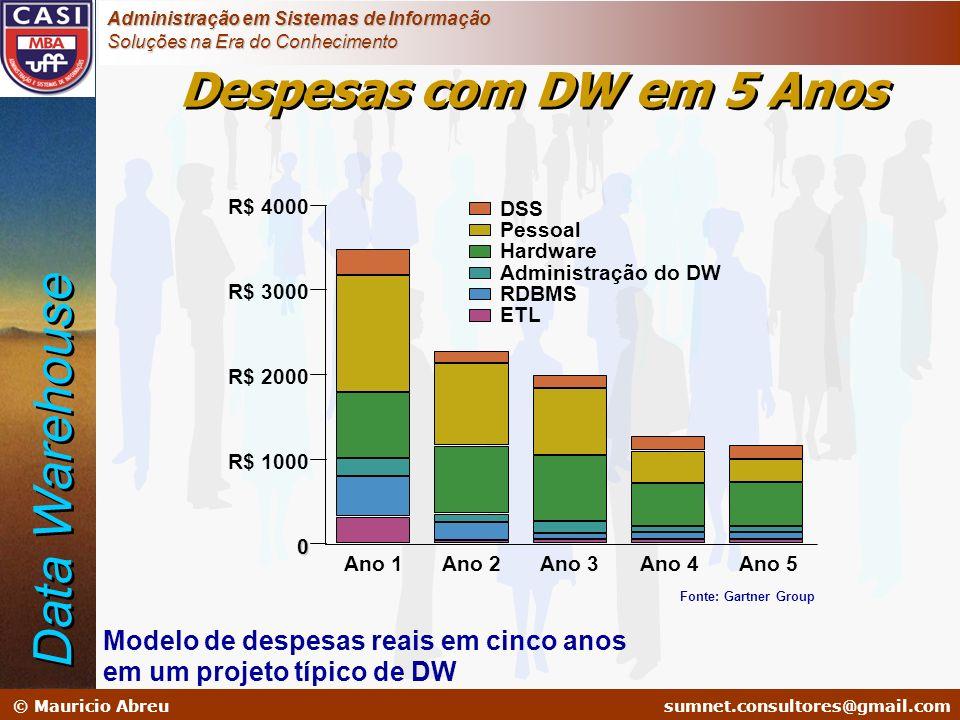 sumnet@microlink.com.br © Mauricio Abreusumnet.consultores@gmail.com Administração em Sistemas de Informação Soluções na Era do Conhecimento Despesas