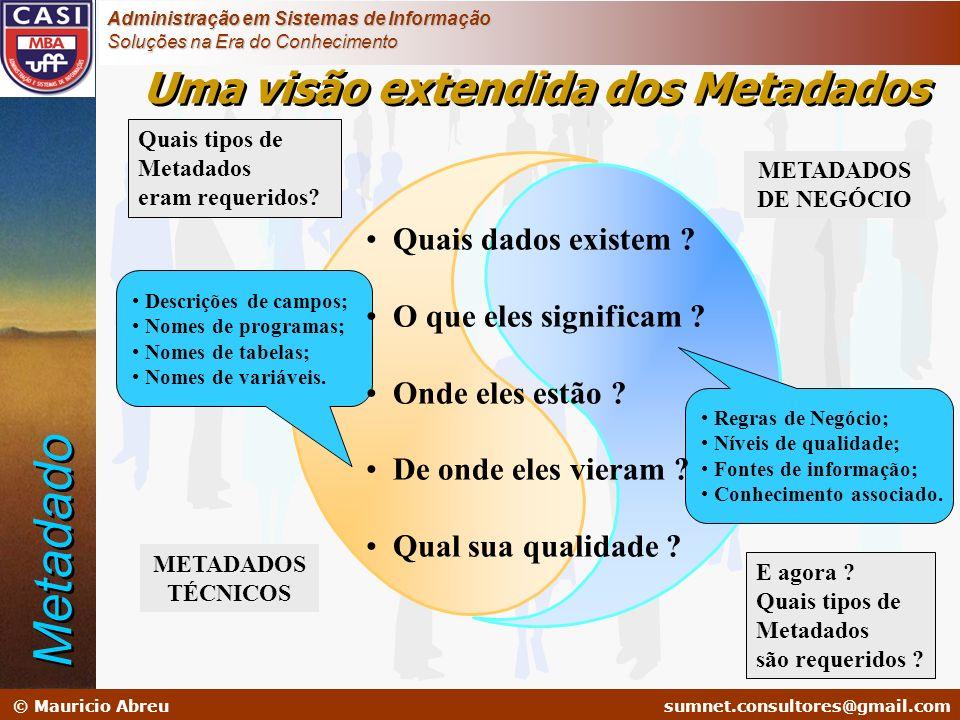 sumnet@microlink.com.br © Mauricio Abreusumnet.consultores@gmail.com Administração em Sistemas de Informação Soluções na Era do Conhecimento Quais tip