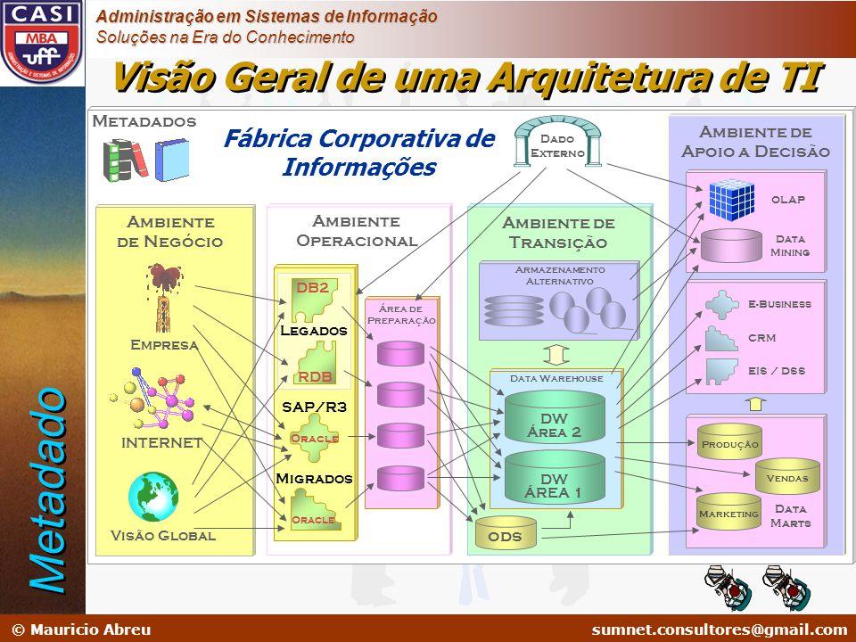 sumnet@microlink.com.br © Mauricio Abreusumnet.consultores@gmail.com Administração em Sistemas de Informação Soluções na Era do Conhecimento Ambiente
