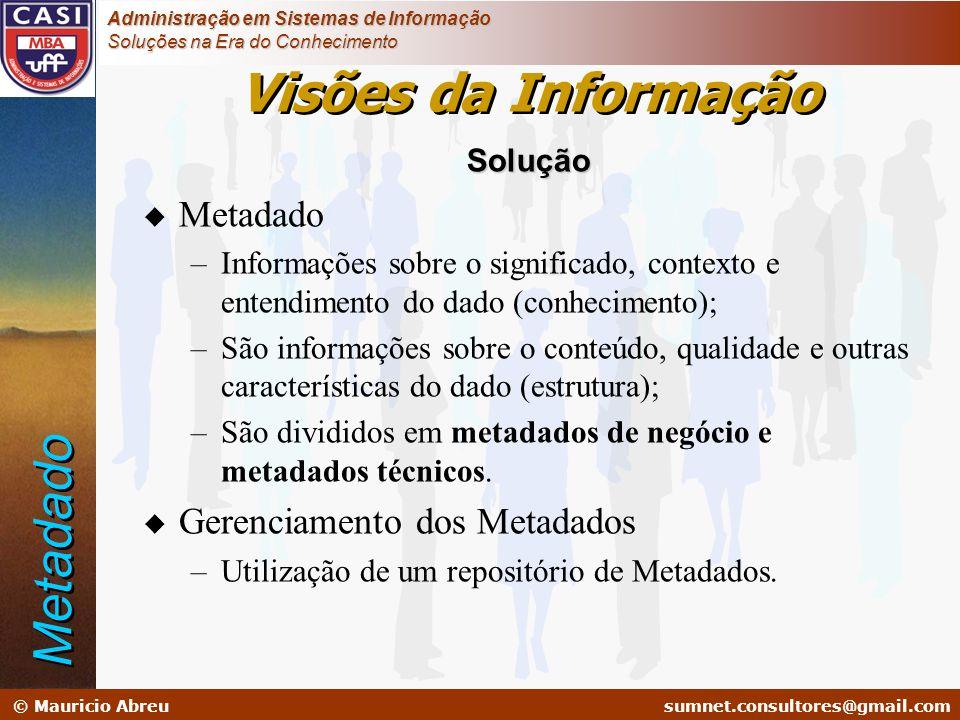 sumnet@microlink.com.br © Mauricio Abreusumnet.consultores@gmail.com Administração em Sistemas de Informação Soluções na Era do Conhecimento Solução u