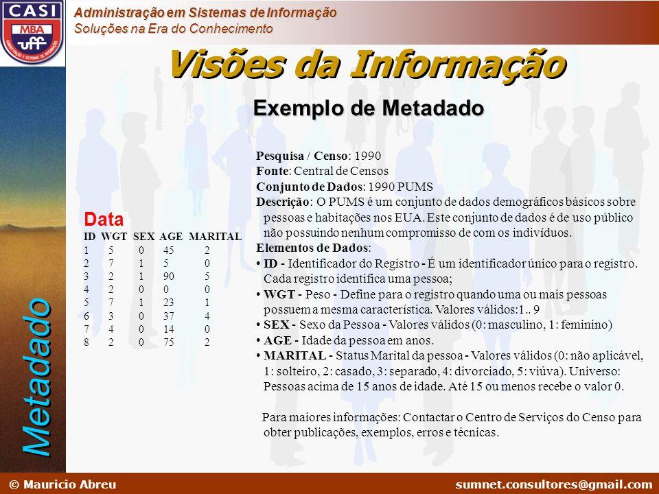 sumnet@microlink.com.br © Mauricio Abreusumnet.consultores@gmail.com Administração em Sistemas de Informação Soluções na Era do Conhecimento Pesquisa