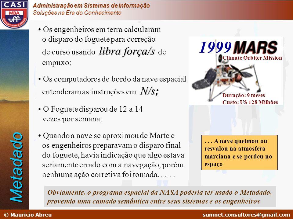 sumnet@microlink.com.br © Mauricio Abreusumnet.consultores@gmail.com Administração em Sistemas de Informação Soluções na Era do Conhecimento Os engenh
