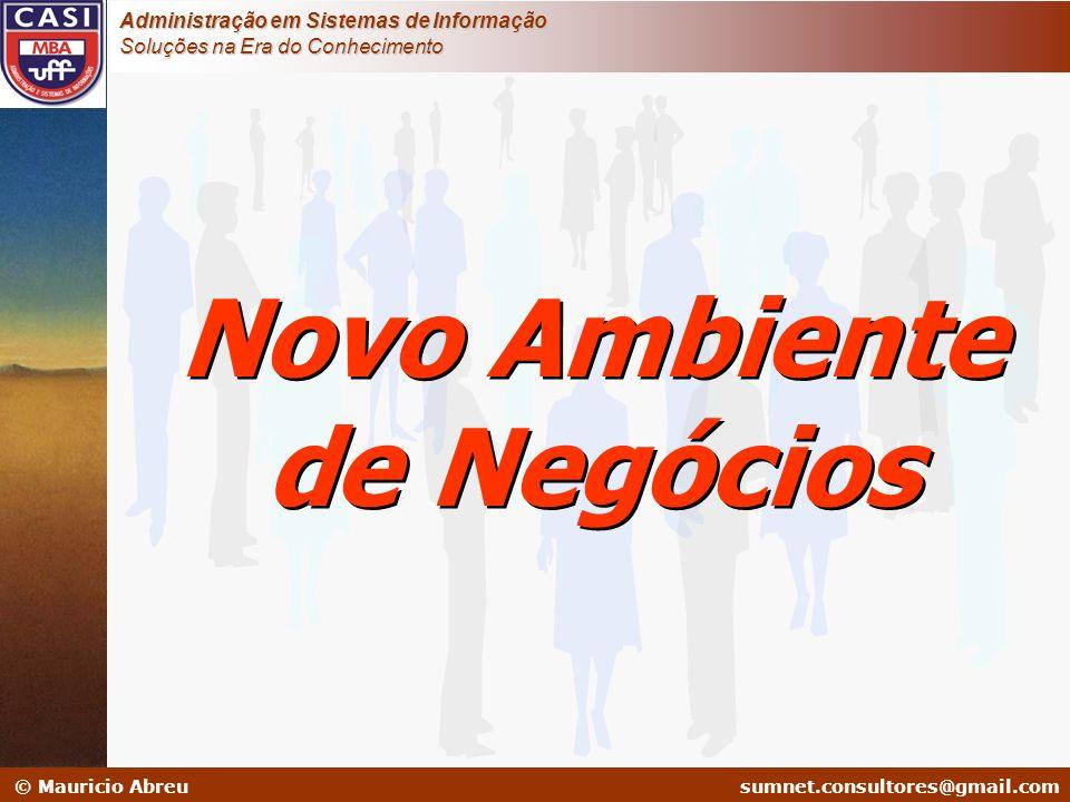 sumnet@microlink.com.br © Mauricio Abreusumnet.consultores@gmail.com Administração em Sistemas de Informação Soluções na Era do Conhecimento Por que Conhecimento.