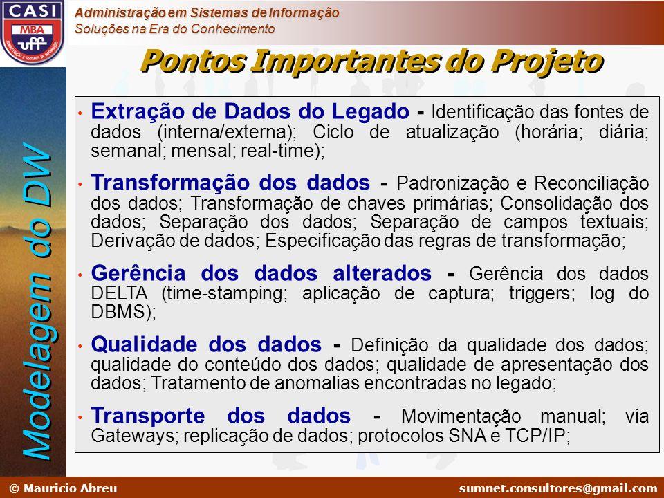 sumnet@microlink.com.br © Mauricio Abreusumnet.consultores@gmail.com Administração em Sistemas de Informação Soluções na Era do Conhecimento Extração