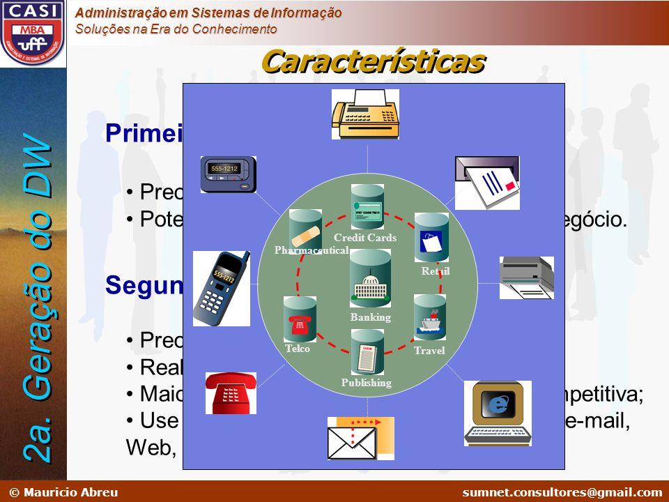 sumnet@microlink.com.br © Mauricio Abreusumnet.consultores@gmail.com Administração em Sistemas de Informação Soluções na Era do Conhecimento Primeira