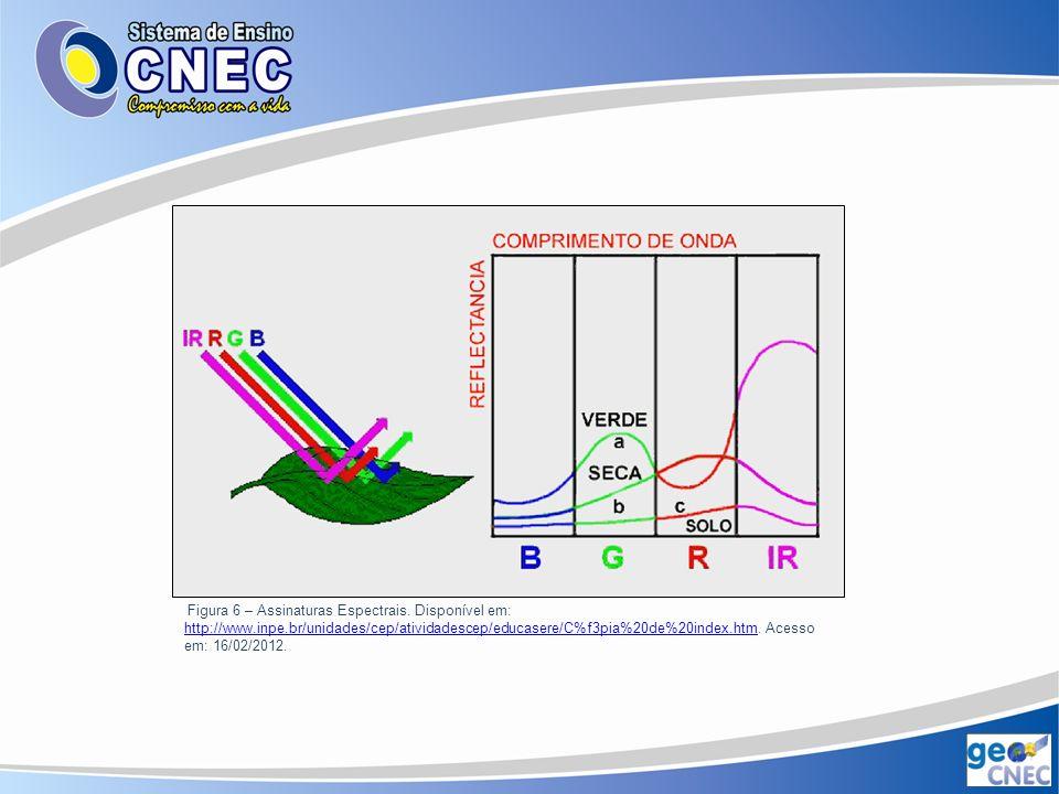 Figura 7 – Curva espectral da vegetação, da água e do solo. FLORENZANO, 2007.