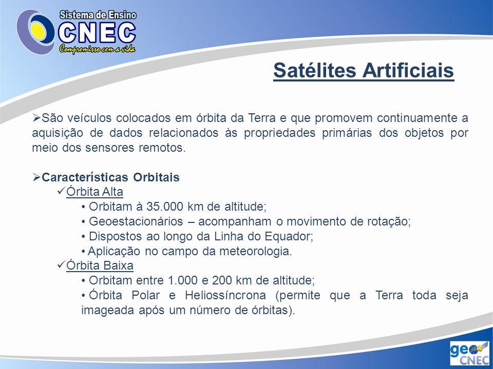 Figura 9 – Tipos de órbitas dos satélites artificiais. FLORENZANO, 2007.