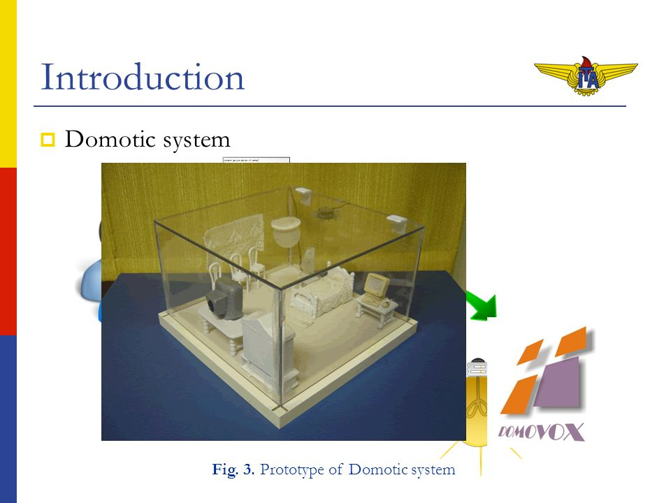 1 on Port [4], Action [true] Introduction Domotic system Por favor, ligue a lâmpada! Fig. 3. Prototype of Domotic system