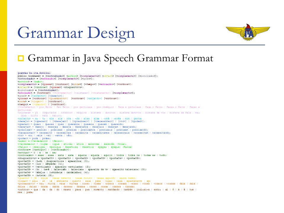 Grammar Design Computational resources Graph.1.