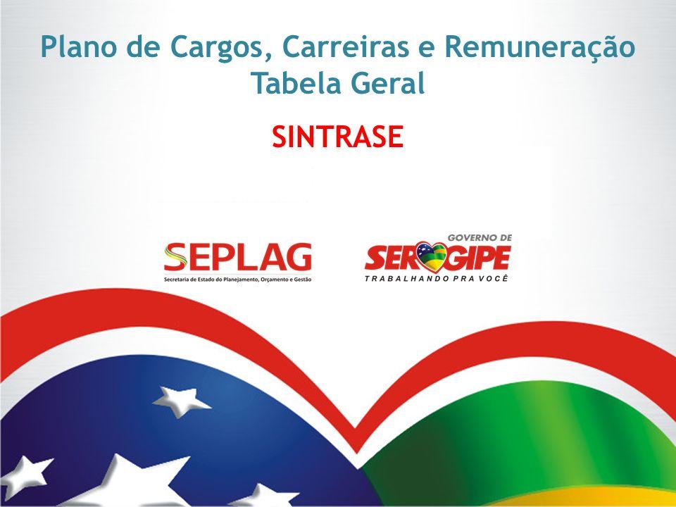 Plano de Cargos, Carreiras e Remuneração Tabela Geral SINTRASE