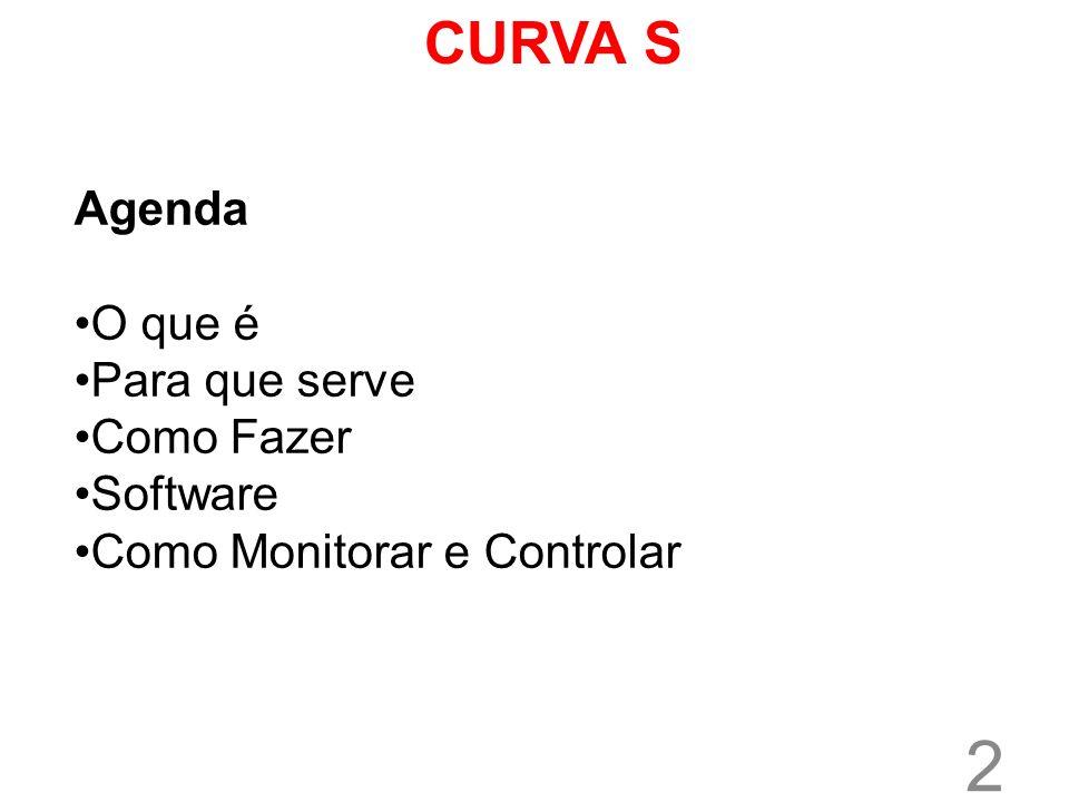 2 CURVA S Agenda O que é Para que serve Como Fazer Software Como Monitorar e Controlar