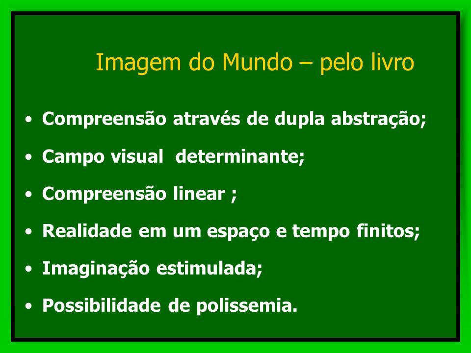 Imagem do Mundo Percepção pelo livro Percepção pelo audiovisual Percepção pelo computador Percepção pelo livro Percepção pelo audiovisual Percepção pe
