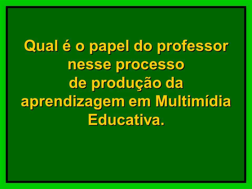 Processo de produção de Multimídia –criação, –planejamento e – elaboração Desenvolvimento de –habilidades sensoriais e cognitivas, –estratégias de apr