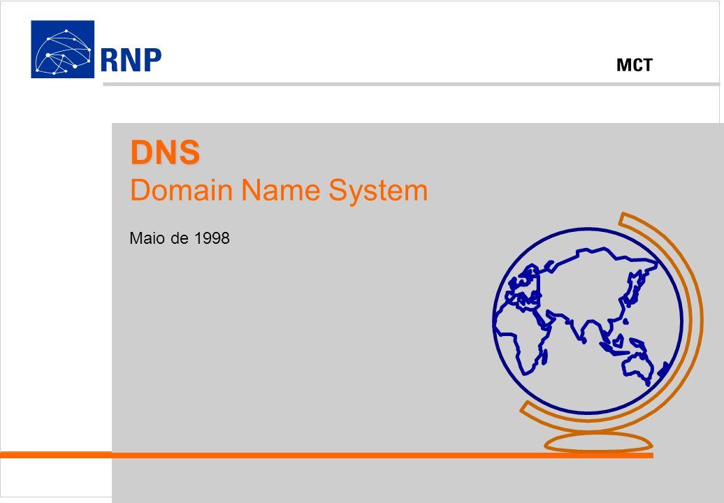 DNS - Domain Name System 1998 - RNPDNS Domain Name System Maio de 1998
