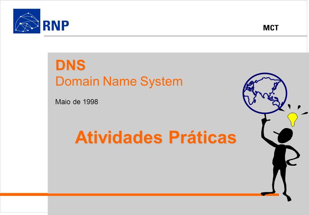 DNS - Domain Name System 1998 - RNPDNS Domain Name System Maio de 1998 Atividades Práticas