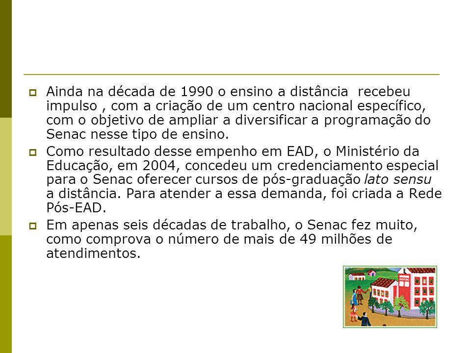 Ainda na década de 1990 o ensino a distância recebeu impulso, com a criação de um centro nacional específico, com o objetivo de ampliar a diversificar