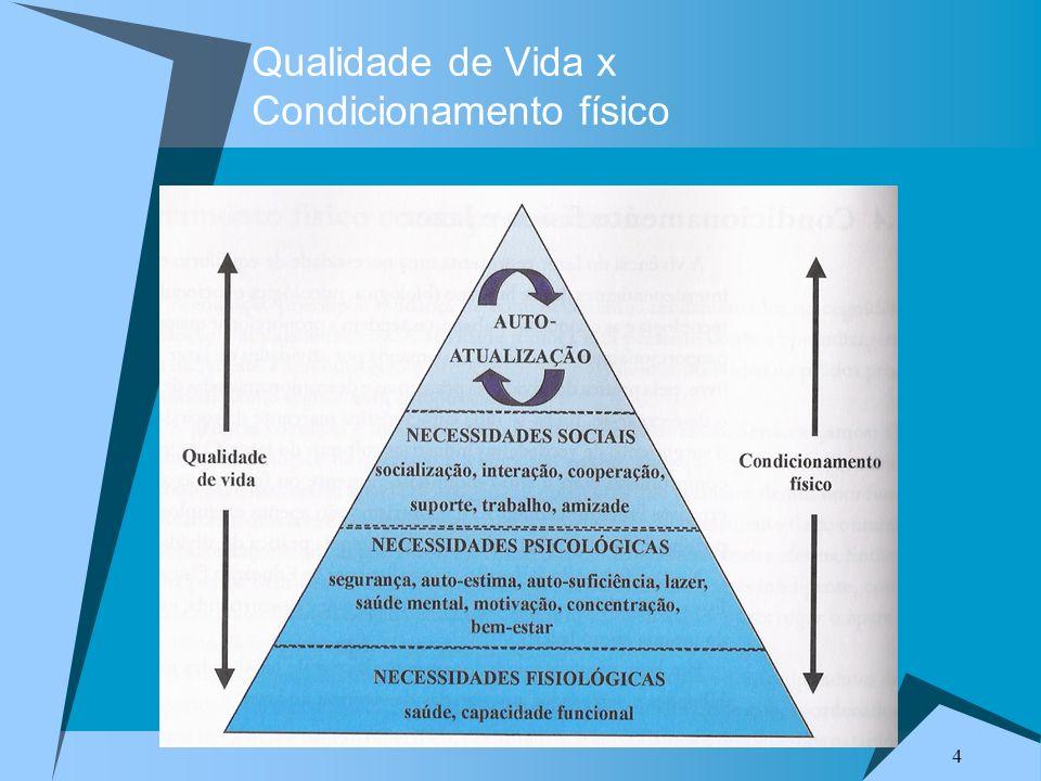 4 Qualidade de Vida x Condicionamento físico