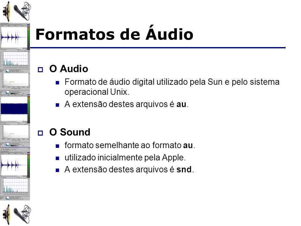 O Audio Formato de áudio digital utilizado pela Sun e pelo sistema operacional Unix. A extensão destes arquivos é au. O Sound formato semelhante ao fo