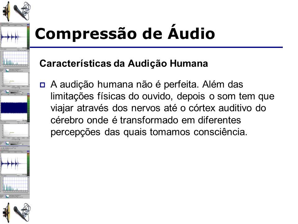 Características da Audição Humana A audição humana não é perfeita. Além das limitações físicas do ouvido, depois o som tem que viajar através dos nerv