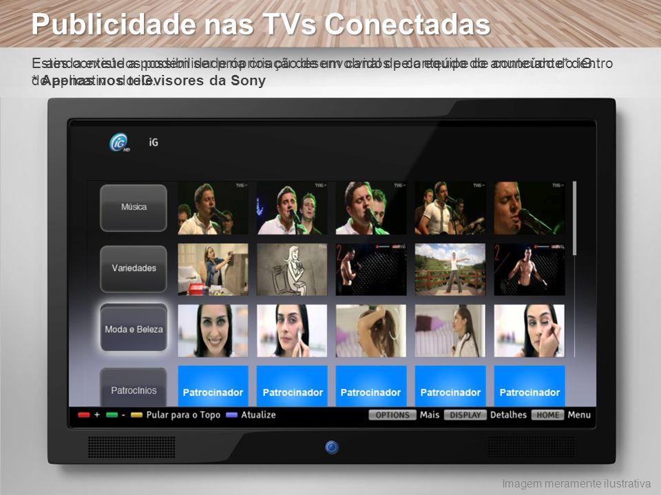Publicidade nas TVs Conectadas E ainda existe a possibilidade na criação de um canal de conteúdo do anunciante* dentro do aplicativo do iG. Estes cont