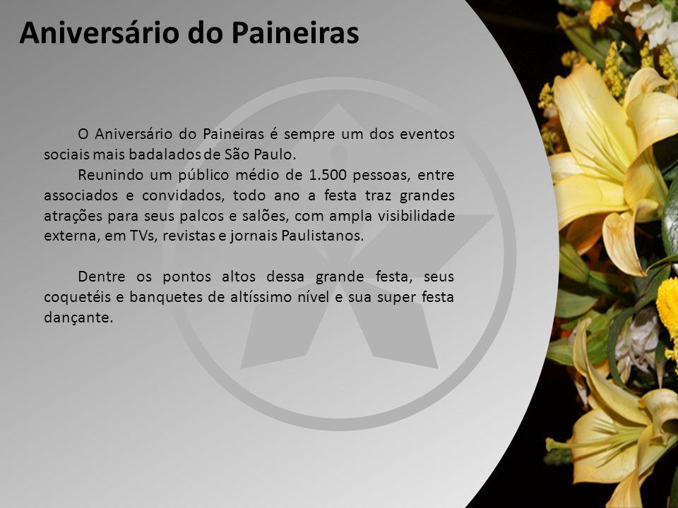 Aniversário do Paineiras O Aniversário do Paineiras é sempre um dos eventos sociais mais badalados de São Paulo. Reunindo um público médio de 1.500 pe